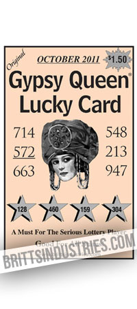 ROB'S LUCKY ASTROLOGY GUIDE- LOTTERY SHEET